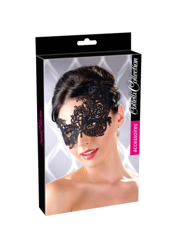 Asymmetric Embroidered Masquerade Mask