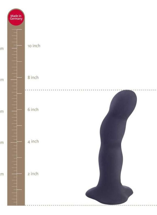 Fun Factory Bouncer Red Strap-On Dildo with Rumbling Balls